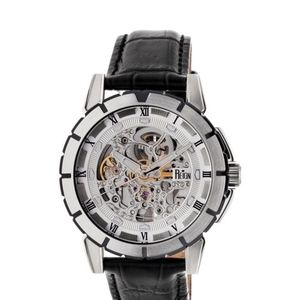 NEW Reign Mens Watch Skeleton Silver 41mm